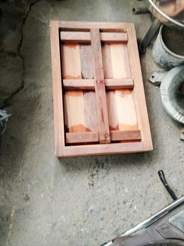 khuân gói đậu bằng gỗ đậu cân