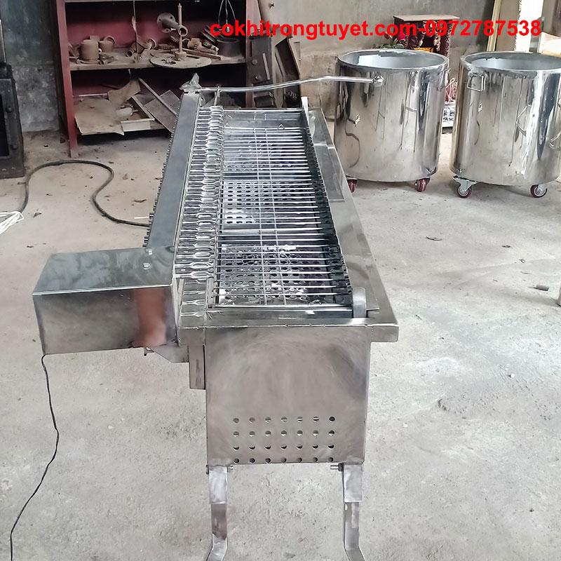 máy nướng thịt xiên tự động